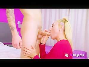 Lewd ginger-haired ejaculation rigid for dark-haired agent