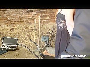 Senior blonde milf lezzies trampy restrain bondage and handballing